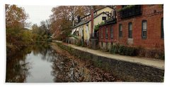 Fall On The Canal Bath Towel