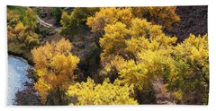 Hand Towel featuring the photograph Fall On The Chama River by Roselynne Broussard