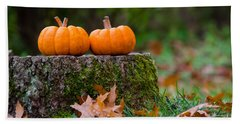 Fall Pumpkins Bath Towel by Mike Ste Marie
