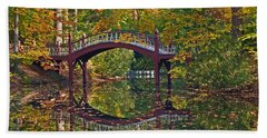 Fall Reflections At Crim Dell Hand Towel by Jerry Gammon