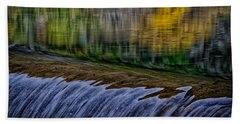 Fall Reflections At Tumwater Spillway Bath Towel