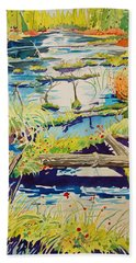 Fall River Scene Hand Towel