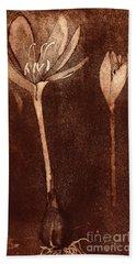Fall Time - Autumn Crocus Meadow Safran Hand Towel