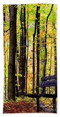 Fall Woods In Michigan Hand Towel