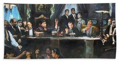 Fallen Last Supper Bad Guys Hand Towel