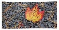 Hand Towel featuring the photograph Fallen Leaf by Dora Sofia Caputo Photographic Art and Design