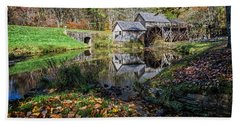 Fallen Leaves At Mabry Mill Hand Towel