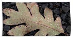 Fallen Oak Leaf Hand Towel