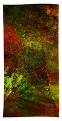 Bath Towel featuring the mixed media Fallen Seasons by Ally  White