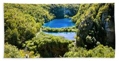 Falling Lakes Of Plitvice National Park Hand Towel