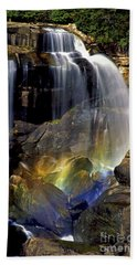 Falls And Rainbow Bath Towel