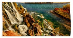 Falls Creek Waterfall Bath Towel by Greg Norrell