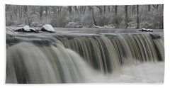 Falls In Winter Hand Towel