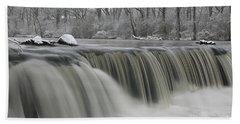 Falls In Winter Bath Towel