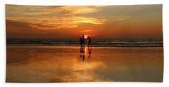Family Reflections At Sunset -3  Hand Towel