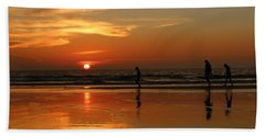 Family Reflections At Sunset - 5 Hand Towel