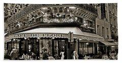 Famous Cafe De Flore - Paris Hand Towel