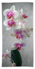 Fancy Orchids Hand Towel by Louise Kumpf