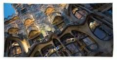 Fantastical Casa Batllo - Antoni Gaudi Barcelona Hand Towel
