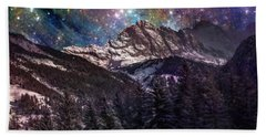 Fantasy Mountain Landscape Bath Towel