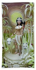 Fantasy Sculpture Made Of Marzipan Hand Towel
