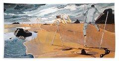 Hand Towel featuring the painting Faraway Lejanias by Lazaro Hurtado