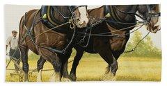 Farm Horses Hand Towel