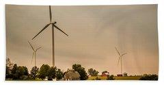 Farms And Windmills Bath Towel