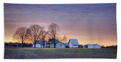 Farmstead At Sunset Hand Towel