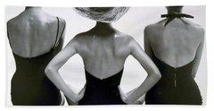 Fashion Models In Swim Suits, 1950 Bath Towel