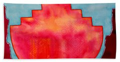 Fat Sunrise Original Painting Hand Towel