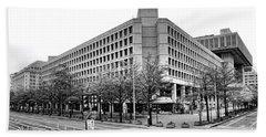 Fbi Building Front View Hand Towel