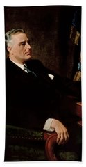Fdr Official Portrait  Hand Towel