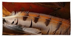 Feather And Leather Hand Towel