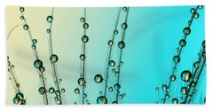 Feather Drops With Blue Bath Towel