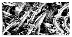 Black And White Abstract Hand Towel by Kellice Swaggerty