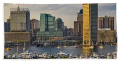 Federal Hill View To The Baltimore Skyline Bath Towel