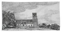 Feering Church, 1814 Bath Towel
