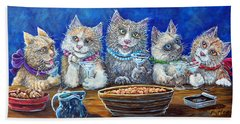 Felines After Five Bath Towel by Gail Butler
