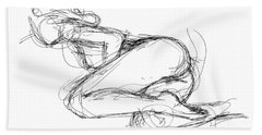 Female-erotic-sketches-8 Bath Towel