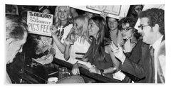 Feminists Protest  Brown's Bar Bath Towel