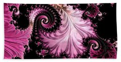 Bath Towel featuring the digital art Femme Fatale Fractal by Susan Maxwell Schmidt