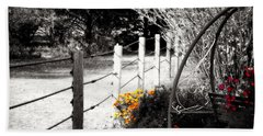 Fence Near The Garden Bath Towel