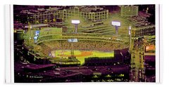 Fenway Park Boston Massachusetts Digital Art Bath Towel
