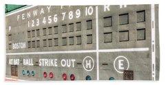 Fenway Park Scoreboard Bath Towel