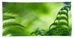 Fern Leaves. Healing Art Hand Towel