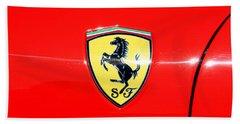 Ferrari Logo Bath Towel