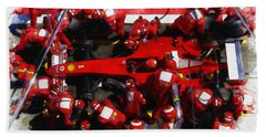 Ferrari Make Changes In Pit Lane Hand Towel