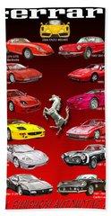 Ferrari Poster Art Bath Towel by Jack Pumphrey