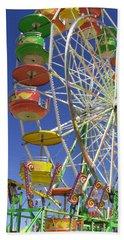 Bath Towel featuring the photograph Ferris Wheel by Marcia Socolik